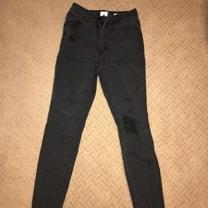 Black Cotton on jeans, ripped knee